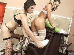 Stunning lesbo cuties Alexa 4 and Bobbi Starr are deferral for you to have a lot be advantageous to