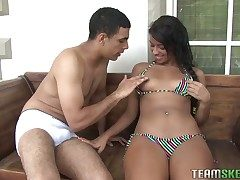 Susana Pino is a naughty ebony hottie who loves mammal boned hard. She is wearing