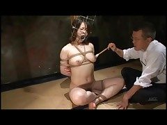 Kinky play about bound Japanese girl
