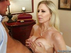 Seductive busty milf Julia Ann with succulent botheration is his
