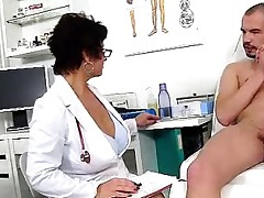 Dirty czech milf Gabina is naughty doctor in cfnm action