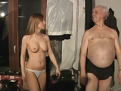 Successful grandpa spent night with hot Russian babe