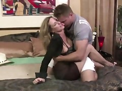 Cougar Jodi West Coaxes Youthful Guy To Shag Her