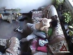 Hidden cam films teen buckle having hot coition